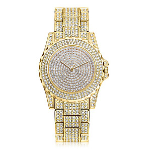 cheap Jewelry Sets-Women's Wrist Watch Gold Watch Quartz Classic Cool Stainless Steel Silver / Gold Analog - Gold Silver Rose One Year Battery Life / SSUO 377