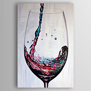 cheap Abstract Paintings-Oil Painting Hand Painted - Still Life Modern Stretched Canvas