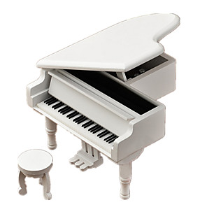 cheap Music Boxes-Music Box Piano Unique Wood Women's Unisex Girls' Kid's Adults Graduation Gifts Toy Gift