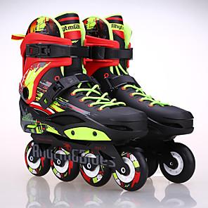 baratos Patins-Patins em Linha Adulto Ajustável Branco, Preto Andar de patins