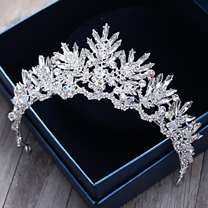 cheap Jewelry Sets-Crystal / Rhinestone / Alloy Tiaras / Headbands / Headwear with Floral 1pc Wedding / Special Occasion / Outdoor Headpiece / Hair Pin
