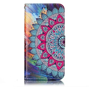 cheap Other Phone Case-Case For LG LG G6 Wallet / Card Holder / with Stand Full Body Cases Mandala Hard PU Leather