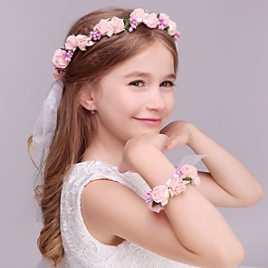 cheap Party Headpieces-Foam Headbands / Flowers / Headwear with Floral 1pc Wedding / Special Occasion / Casual Headpiece