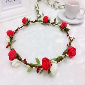 cheap Party Accessories-Foam Headbands Flowers Wreaths Headpiece Classical Feminine Style