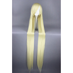 cheap Synthetic Trendy Wigs-Synthetic Wig Cosplay Wig Straight Straight Wig Blonde Very Long Yellow Synthetic Hair Women's Blonde