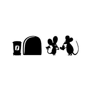 povoljno Zidne naljepnice-Životinje / Oblici / Crtani film Zid Naljepnice Zidne naljepnice Dekorativne zidne naljepnice, Vinil Početna Dekoracija Zid preslikača Zid / Staklo / Kupaonica Ukras 1set