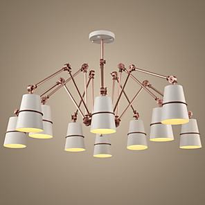 cheap Chandeliers-Ecolight™ 10-Light 182 cm Chandelier Metal Painted Finishes Vintage 220-240V