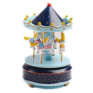 cheap Music Boxes-Music Box Carousel Music Box Carousel Merry Go Round Cute Unique Plastic Women's Unisex Girls' Kid's Adults Graduation Gifts Toy Gift