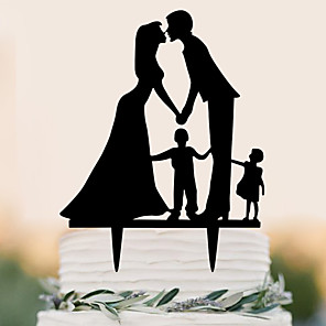 cheap Wedding Gifts-Cake Topper Beach Theme Garden Theme Butterfly Theme Classic Theme Rustic Theme Birthday Family New Baby Classic Couple Plastic Party