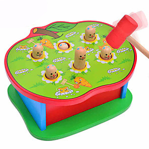 cheap Building Blocks-1 pcs Gopher Game Whac-a-mole Wood Fun Parent-Child Interaction Kid's Toys Gifts