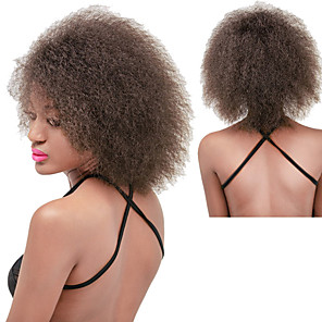 cheap Synthetic Trendy Wigs-Synthetic Wig Curly Afro Curly Afro Wig Long Black#1B Brown Dark Brown Red Synthetic Hair Women's Natural Hairline African American Wig Red Black Brown