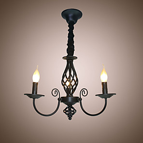 cheap Candle-Style Design-3-Light 50 cm Candle Style Chandelier Metal Candle-style Painted Finishes Traditional / Classic 110-120V / 220-240V