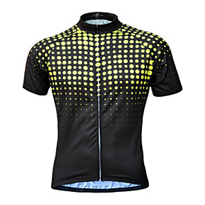 cheap Cycling Jerseys-JESOCYCLING Men's Short Sleeve Cycling Jersey Yellow Green Blue Bike Jersey Top Mountain Bike MTB Road Bike Cycling UV Resistant Breathable Quick Dry Sports Clothing Apparel / Stretchy / Back Pocket