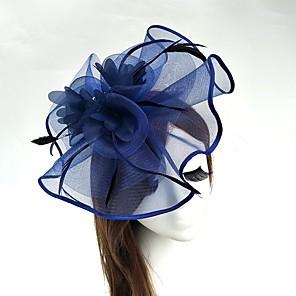 povoljno Party pokrivala za glavu-Til / Perje / Net Kentucky Derby Hat / Fascinators / kape s 1 Vjenčanje / Special Occasion / Čajanka Glava