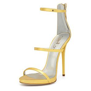 Mujer Zapatos PU Primavera / Verano Gladiador / Zapatos del club Sandalias Tacón Stiletto Dedo redondo Cremallera Dorado / Boda Pas Cher Le Plus Récent Coût De La Vente Officiel De Sortie OOY0g4s