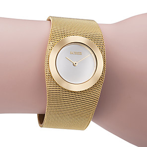 cheap Bracelet Watches-ASJ Women's Luxury Watches Wrist Watch Gold Watch Ladies Casual Watch Copper Gold Analog - Golden One Year Battery Life / Japanese / Japanese / SSUO SR626SW
