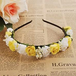 povoljno Party pokrivala za glavu-Pjena Trake za kosu / Cvijeće / vijence s 1 Vjenčanje / Special Occasion / Vanjski Glava