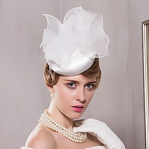 cheap Fascinators-Organza / Satin Kentucky Derby Hat / Hats with 1 Wedding / Special Occasion / Casual Headpiece