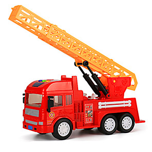 cheap Toy Cars-Toy Car Truck Excavating Machinery Fire Engine Extra Large Pull Back Vehicles ABS for Kid's Unisex Boys'