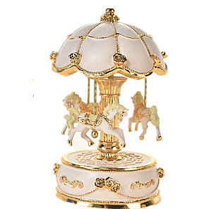 cheap Music Boxes-Music Box Carousel Music Box Wooden Music Box Antique Music Box Unique Wood Women's Unisex Girls' Kid's Adults Graduation Gifts Toy Gift