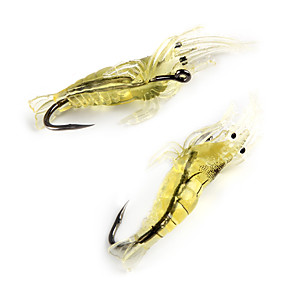 cheap Fishing Lures & Flies-10 pcs Fishing Lures Soft Bait Best Quality Sinking Bass Trout Pike Sea Fishing Fly Fishing Bait Casting Silicon Carbon Steel / Ice Fishing / Spinning / Jigging Fishing / Freshwater Fishing