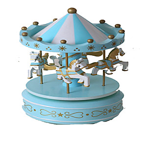 cheap Music Boxes-Music Box Carousel Music Box Carousel Merry Go Round Cute Lighting Unique Plastic Women's Girls' Kid's Adults Graduation Gifts Toy Gift
