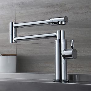 povoljno Kuhinjski sudoperi-Kuhinja pipa - Jedan Ručka jedna rupa Chrome Pot Filler Središnje pozicionirane Suvremena Kitchen Taps
