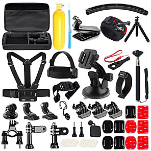 cheap Accessories For GoPro-Accessory Kit For Gopro 50 in 1 Multi-function Foldable For Action Camera Gopro 6 Gopro 5 Xiaomi Camera Gopro 4 Gopro 3 Diving Surfing Ski / Snowboard Velcro Neoprene ABS / SJCAM / Android Cellphone