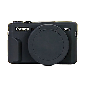 cheap Action Cameras-Dengpin Soft Silicone Armor Skin Rubber Camera Cover Case Bag for Canon PowerShot G7 X Mark II g7x2 (Assorted Colors)