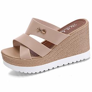 Women's Shoes PU Summer Comfort Slippers & Flip-Flops / Sandals Walking  Shoes Wedge Heel