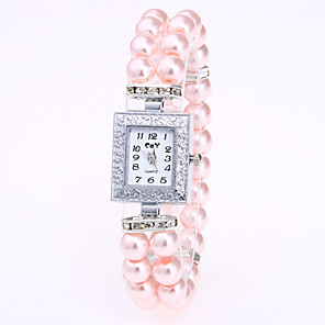 cheap Bracelet Watches-Women's Bracelet Watch Quartz Ladies Casual Watch Pearl White / Red / Pink Analog - White Red Pink One Year Battery Life / Jinli 377