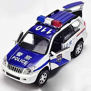cheap Toy Cars-1:32 Toy Car Model Car Police car Chrome Mini Car Vehicles Toys for Party Favor or Kids Birthday Gift / Kid's