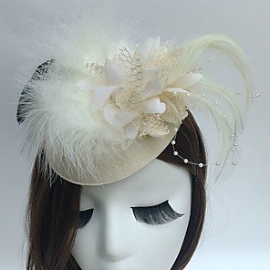 cheap Historical & Vintage Costumes-Fascinators / Hats / Headwear with Floral 1pc Special Occasion / Tea Party / Horse Race Headpiece