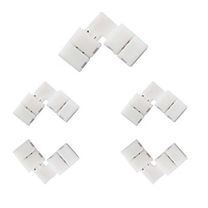 cheap Lamp Bases & Connectors-5pcs 10mm 2 Pin L-shape SMD 5050 5630 LED Strip Connector Right Angle Corner Connector for Single ColorLED Strip Lights Strip to Strip Connector