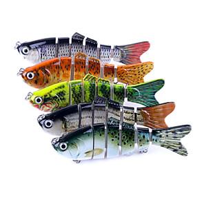 cheap Fishing Lures & Flies-5 pcs Fishing Accessories Jerkbaits Minnow Pike Easy to Use Sinking Bass Trout Pike Sea Fishing Spinning Jigging Fishing Plastic / Freshwater Fishing / Carp Fishing / Bass Fishing / Lure Fishing