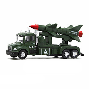cheap Toy Cars-1:32 Military Vehicle Toy Truck Construction Vehicle Toy Car Model Car Music & Light Kid's Car Toys