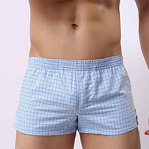 cheap Ethernet Cable-Men's Super Sexy Boxers Underwear Striped 1 Piece Black White Blue M L XL