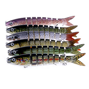cheap Fishing Lures & Flies-6 pcs Jerkbaits Minnow Sinking Bass Trout Pike Sea Fishing Spinning Bass Fishing / Lure Fishing / General Fishing / Trolling & Boat Fishing