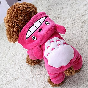 cheap Dog Clothes-Cat Dog Coat Hoodie Jumpsuit Winter Dog Clothes Brown Rose Gray Costume Polar Fleece Animal Keep Warm Halloween XS S M L XL XXL