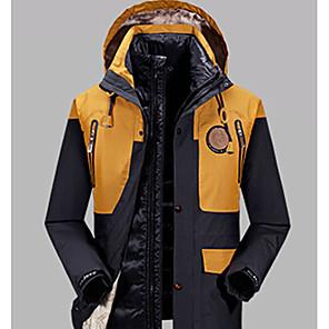 cheap Softshell, Fleece & Hiking Jackets-Men's Hiking Jacket Winter Outdoor Thermal / Warm Down Lining Camping / Hiking Hunting Climbing Grey / Dark Navy