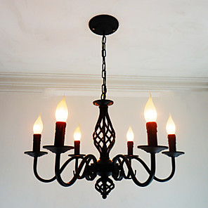 cheap Candle-Style Design-6-Light 62 cm Candle Style Chandelier Metal Candle-style Others Chic & Modern 110-120V / 220-240V