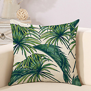 cheap Pillow Covers-1 pcs Cotton / Linen Pillow Cover Pillow Case, Botanical Novelty Printing Vintage Casual Retro
