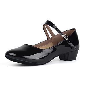 cheap Men's Bags-Women's Dance Shoes Patent Leather Modern Shoes/Character Shoes Heel Low Heel Customizable Black / Gold / Silver / Practice / EU39