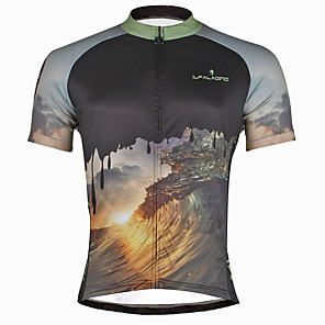 cheap Cycling Jerseys-ILPALADINO Men's Short Sleeve Cycling Jersey Skull Bike Jersey Top Mountain Bike MTB Road Bike Cycling Quick Dry Ultraviolet Resistant Reflective Strips Sports Polyester Coolmax® Eco-friendly