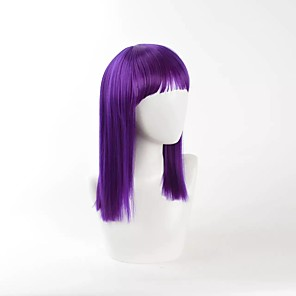 cheap Synthetic Trendy Wigs-Synthetic Wig Straight Straight Wig Medium Length Purple Synthetic Hair Women's Purple