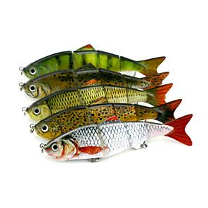 cheap Fishing Lures & Flies-5 pcs Jerkbaits Minnow Sinking Bass Trout Pike Sea Fishing Bait Casting Spinning / Freshwater Fishing / Bass Fishing / Lure Fishing / General Fishing / Trolling & Boat Fishing