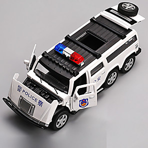 cheap Toy Trucks & Construction Vehicles-1:32 Toy Car Model Car Police car Chrome Mini Car Vehicles Toys for Party Favor or Kids Birthday Gift / Kid's