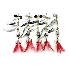 cheap Fishing Lures & Flies-5 pcs Buzzbait & Spinnerbait Spoons Metal Bait Spinnerbaits Sinking Bass Trout Pike Sea Fishing Fly Fishing Bait Casting / Spinning / Bass Fishing / Lure Fishing / General Fishing