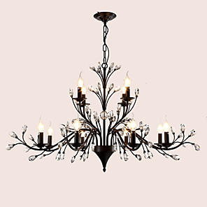 cheap Candle-Style Design-LightMyself™ 112 cm Crystal / LED Chandelier Metal Painted Finishes Modern Contemporary 110-120V / 220-240V