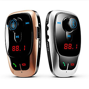 cheap Car FM Transmitter/MP3 Players-X9 Car MP3 Player Bluetooth V2.1 Handsfree Kit Call Wireless FM Modulator TF Card 2 Port Black Dual USB Charger for Music Talking